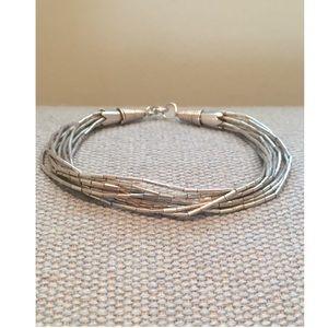 Jewelry - VTG Artisan Sterling Silver Multi-strand Bracelet